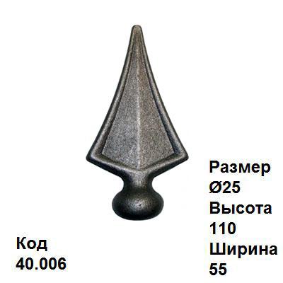 Кованые пики, копья: http://kovosvit.net/index.php/kovanye-elementy/13/piki